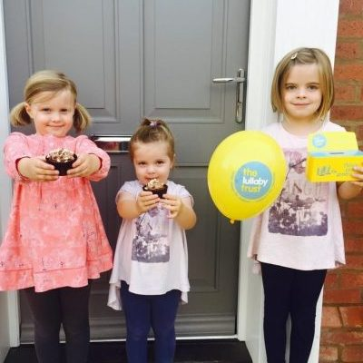 Children fundraising for The Lullaby Trust at home