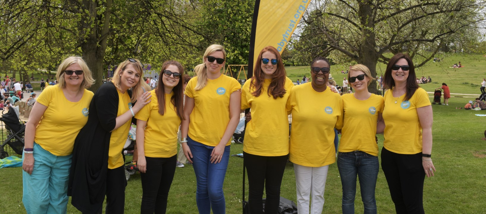 Lullaby Trust Staff at event