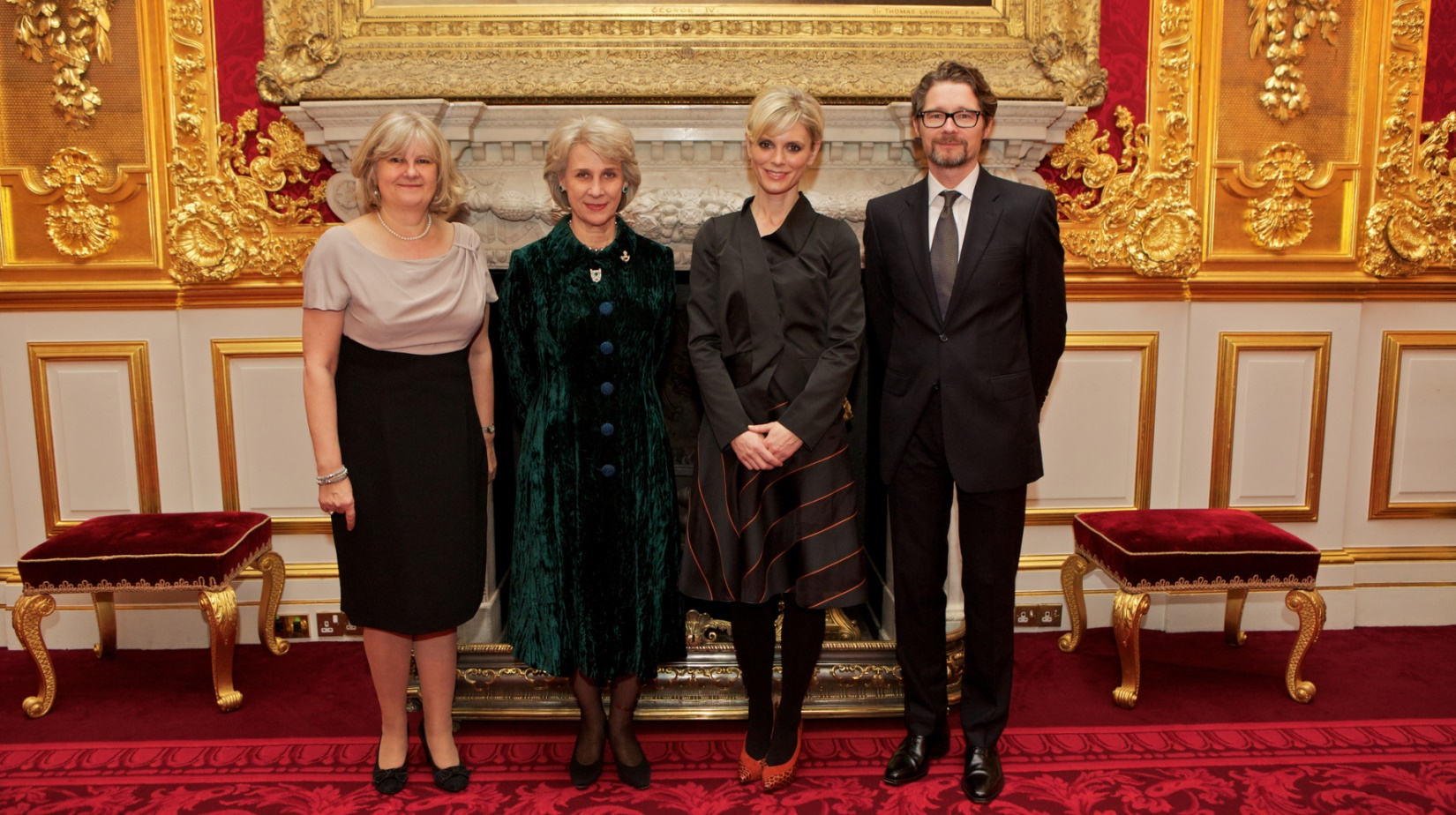 The Duchess of Gloucester with others at St James Palace