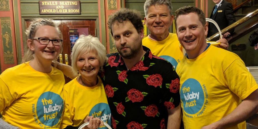 adam kay raises £100,000 for charity The Lullaby Trust
