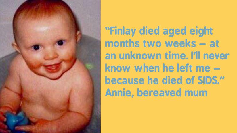Bereaved mum Annie's quote