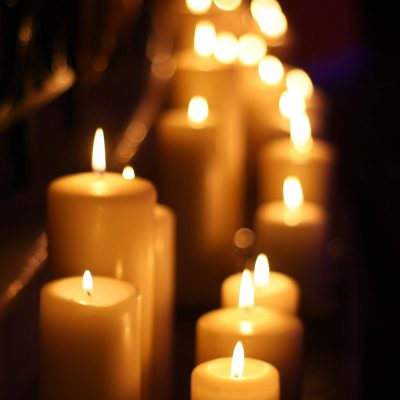 Candles at the carol concert 2016