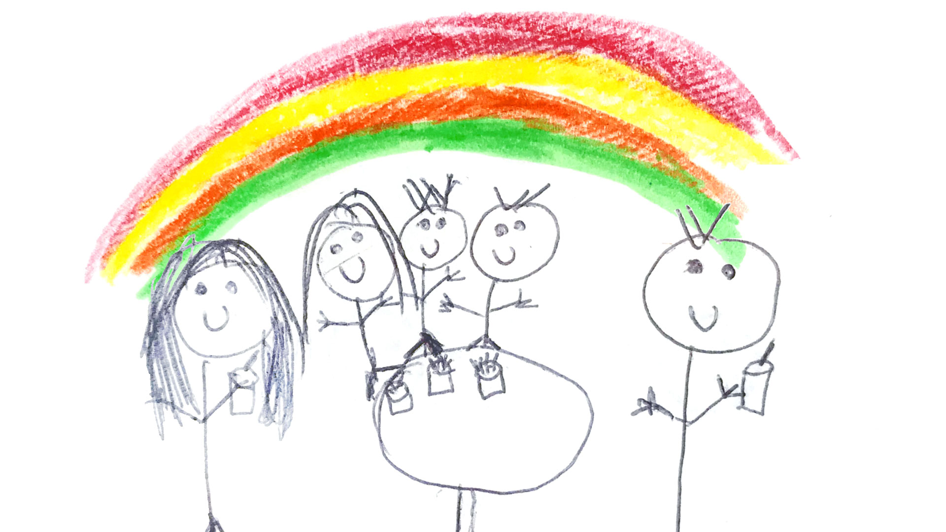 child's illustration of Lullaby Trust family day