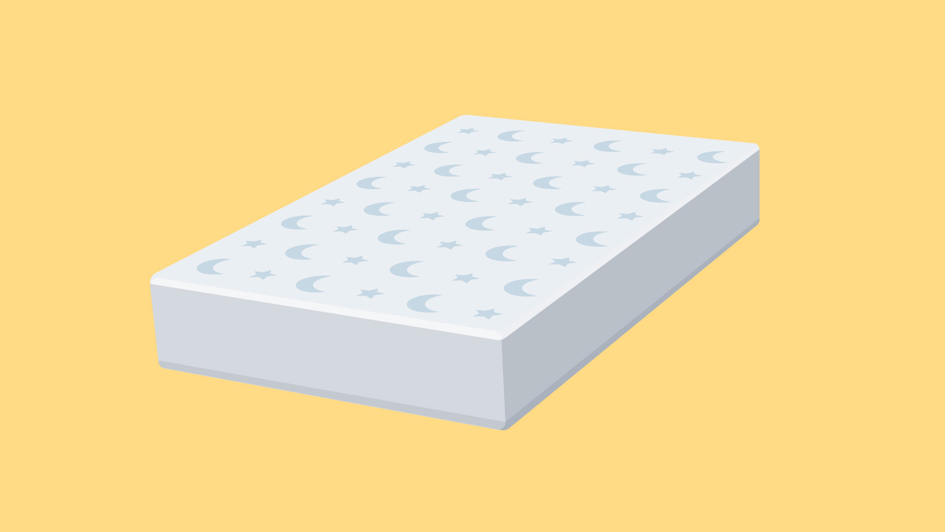 Firm, flat, waterproof mattress