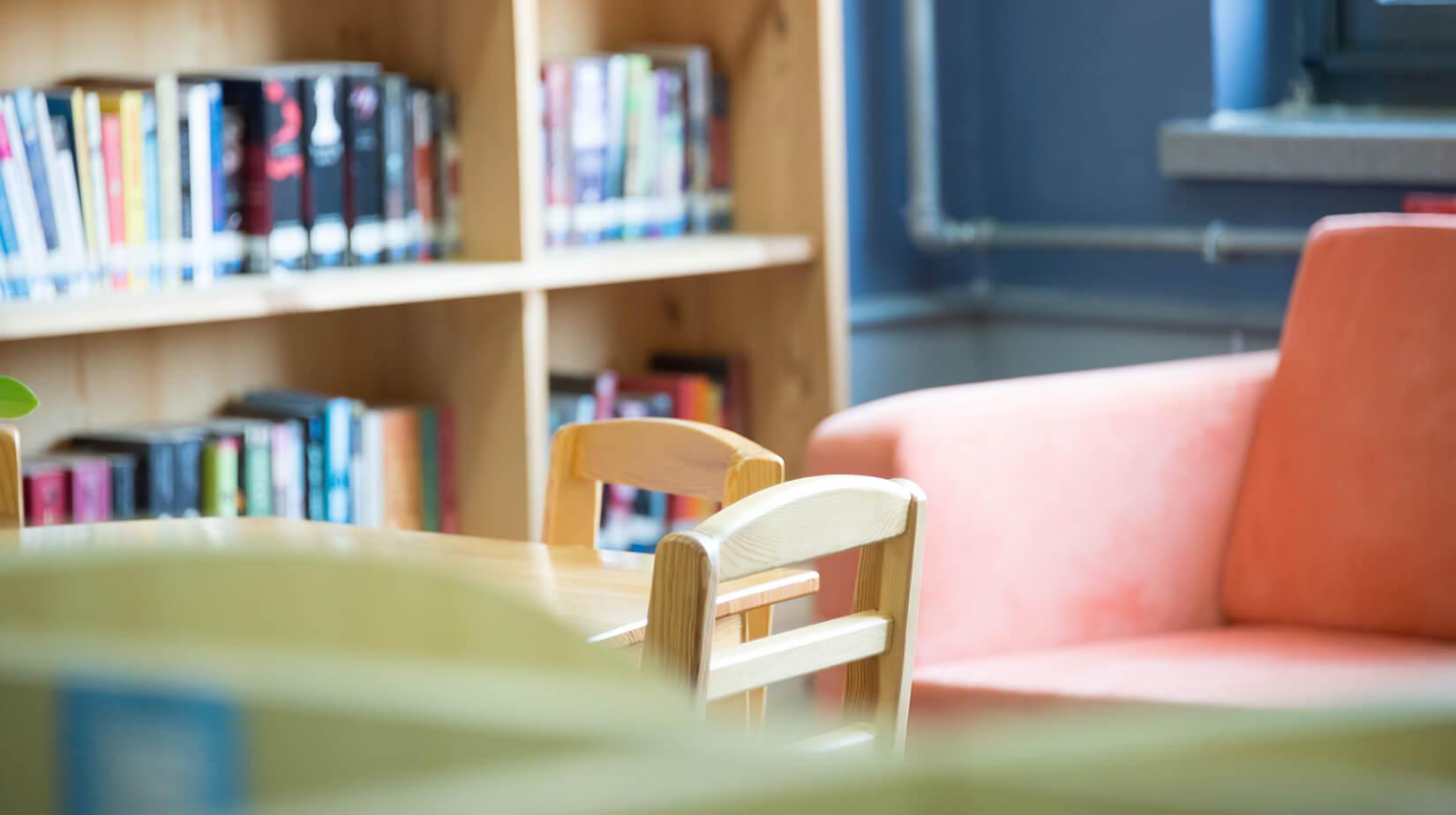 Nursery school with tables