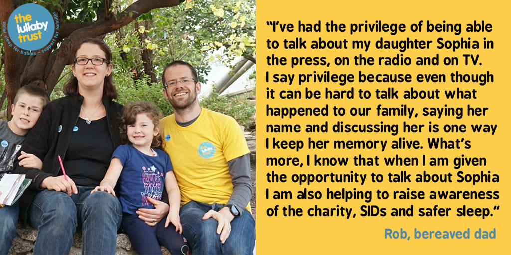 Bereaved dad Rob tells why he is a case study for The Lullaby Trust