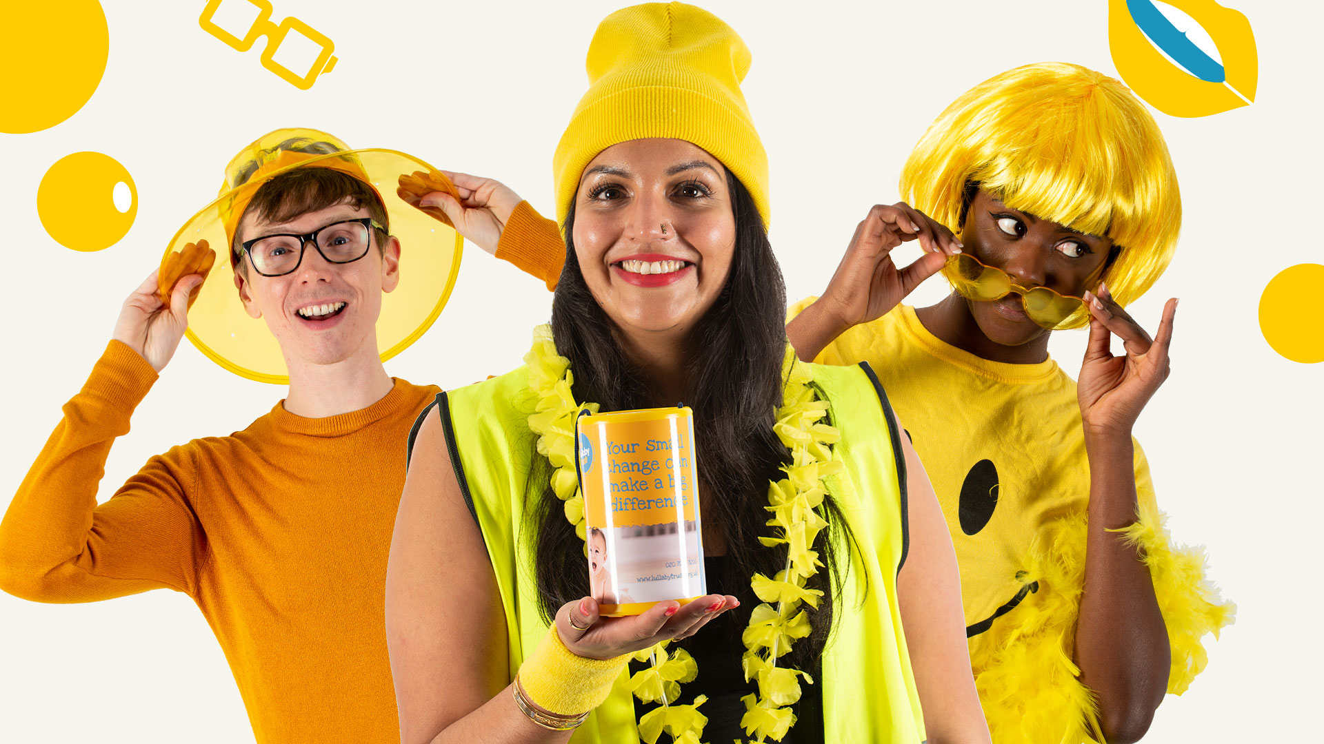 Raise funds for The Lullaby Trust by taking part in Yellow Yourself